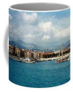 Harbor Scene In Nice France Coffee Mug