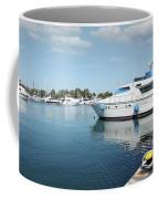 Harbor With Yacht And Boats Coffee Mug