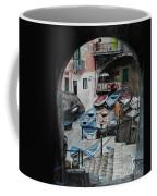 Harbor's Edge In Riomaggiore Coffee Mug