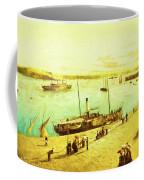 Harbour Parasols Coffee Mug by Sarah Vernon