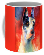 Harlequin Great Dane Watercolor Painting Coffee Mug by Svetlana Novikova