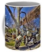 Harley Davidson And Brooklyn Bridge Coffee Mug
