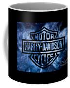Harley Davidson Logo Blue Coffee Mug
