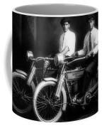 William Harley And Arthur Davidson, 1914 -- The Founders Of Harley Davidson Motorcycles Coffee Mug