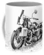 Harley Davidson Military Motorcycle Bw Coffee Mug