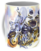 Motorcycle In Watercolor Coffee Mug