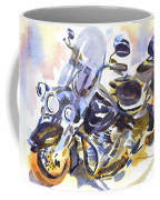Motorcycle In Watercolor Coffee Mug