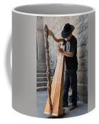 Harpist Street Musician, Barcelona, Spain Coffee Mug