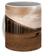 Harringworth Viaduct And Horses Grazing Coffee Mug