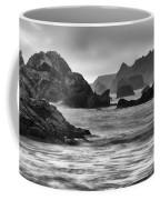 Harris Beach Oregon Monochrome Coffee Mug