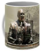Harry Caray Statue With Historic Wrigley Scoreboard In Heirloom Coffee Mug