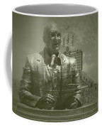 Harry Caray Statue With Historic Wrigley Scoreboard Coffee Mug