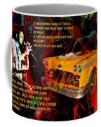 Harry Chapin Taxi Song Poster With Lyrics Coffee Mug