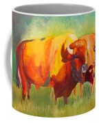 Hartsel Bison Family In Springtime Coffee Mug