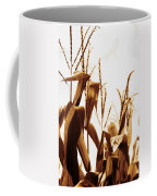 Harvest Corn Stalks - Gold Coffee Mug