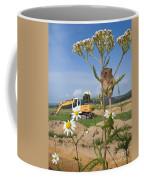 Harvest Mouse And Backhoe Coffee Mug