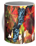 Harvest Time Grapes And Leaves Coffee Mug