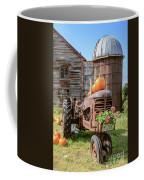 Harvest Time Vintage Farm With Pumpkins Coffee Mug