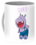 Harvey Hippo Go For It Lt Coffee Mug