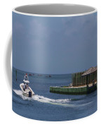 Hatteras Dock And Boat Coffee Mug