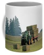 Hauling Hay At Dusk Coffee Mug