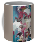 Haunted Voice-blue Red Painting Coffee Mug