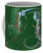 Having Green Tea Coffee Mug