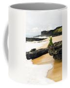 Hawaiian Offering On Beach Coffee Mug