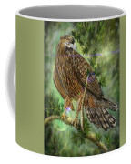 Hawk In The Evergreens Coffee Mug by Darren Cannell