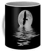 Hawk In The Moonlight 2 Coffee Mug by Shane Bechler
