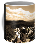 Hawk Mountain In Sepia Coffee Mug