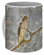 Hawk On Lookout Coffee Mug by George Randy Bass
