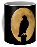 Hawk Silhouette 2 Coffee Mug by Shane Bechler