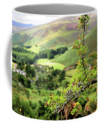 Hawthorn Branch With View To Wicklow Hills. Ireland Coffee Mug