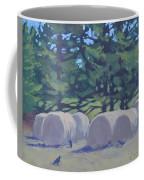Hay Bales And Crows Coffee Mug