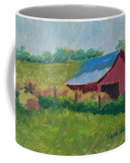 Hay Bales In Morning Light Coffee Mug
