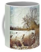 Hay Bales In Snow Coffee Mug