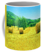 Hay Harvest In Tuscany Coffee Mug