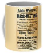 Haymarket Handbill, 1886 Coffee Mug by Granger