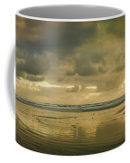 Haystack Sunset Panorama Coffee Mug