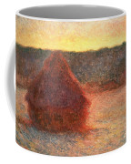 Haystacks At Sunset Coffee Mug