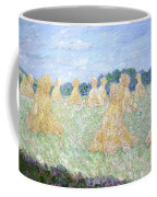 Haystacks The Young Ladies Of Giverny Sun Effect Coffee Mug