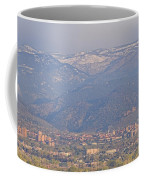 Hazy Low Cloud Morning Boulder Colorado University Scenic View  Coffee Mug by James BO  Insogna