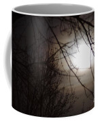 Hazy Moon Through The Trees Coffee Mug