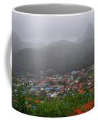 Hazy Pitons Coffee Mug