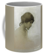 Head Of A Girl  Coffee Mug by Franz Dvorak
