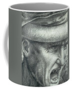 Head Of A Warrior, Copy Of A Detail From The Battle Of Anghiari Coffee Mug