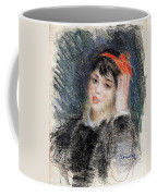 Head Of A Young Woman - 1878 -1880 Pierre-auguste Renoir Coffee Mug