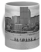 Head Of The Charles. Charles Rowers Black And White Coffee Mug