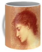 Head Study Of Maria Zambaco The Wine Of Circe Coffee Mug